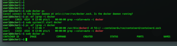 Cannot connect to the Docker daemon at unix:///var/run/docker.sock. Is the docker daemon running?