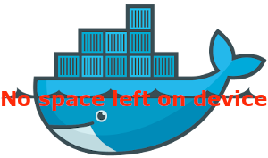 Docker no space left on device