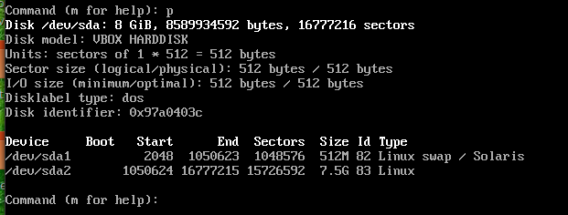 fdisk my partitions