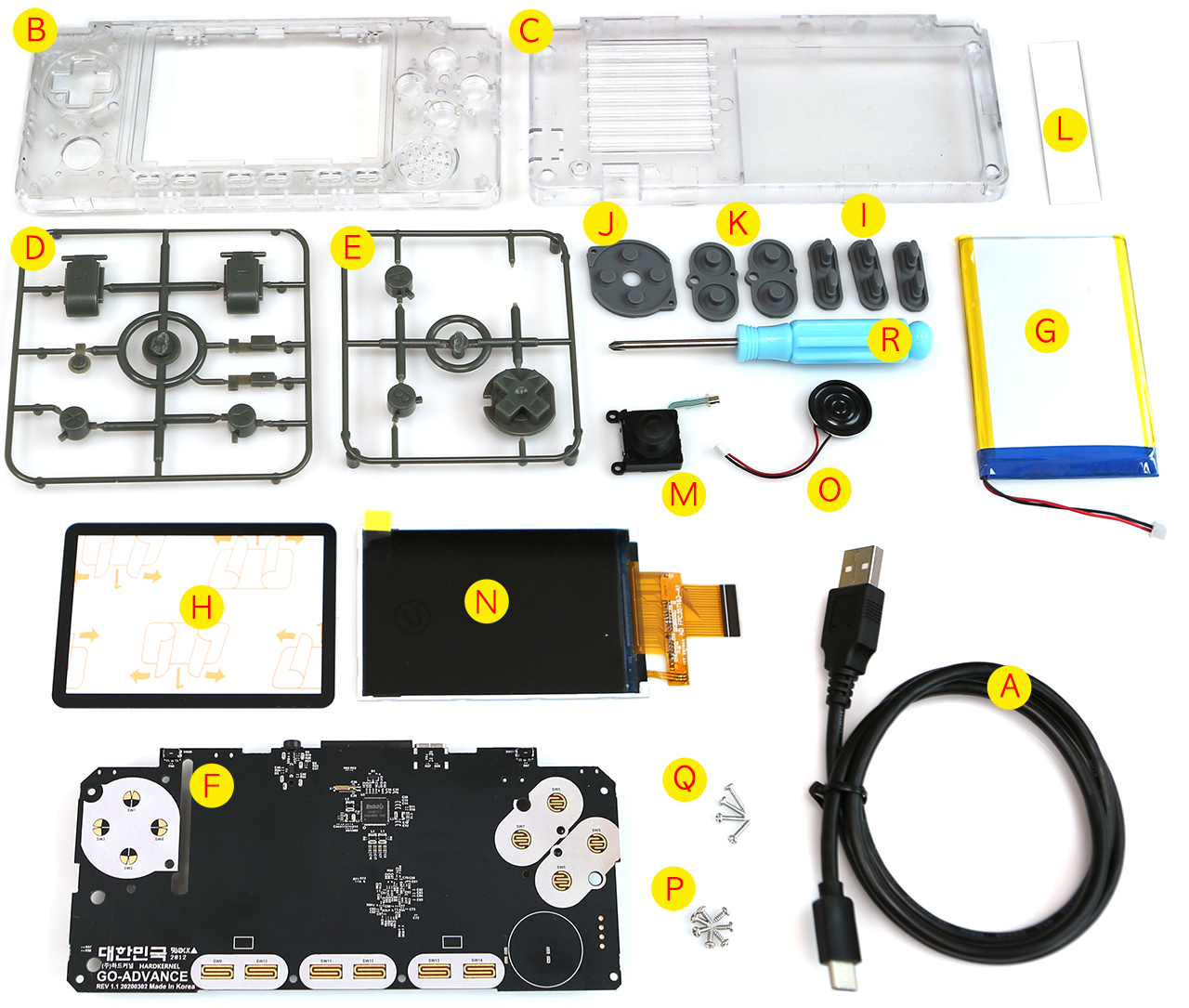 ODROID-GO Advance Black Edition Clear White